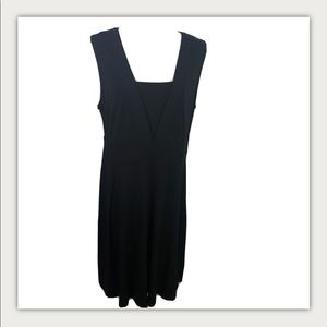 JM Collection Black M Black Sleeveless Midi Dress